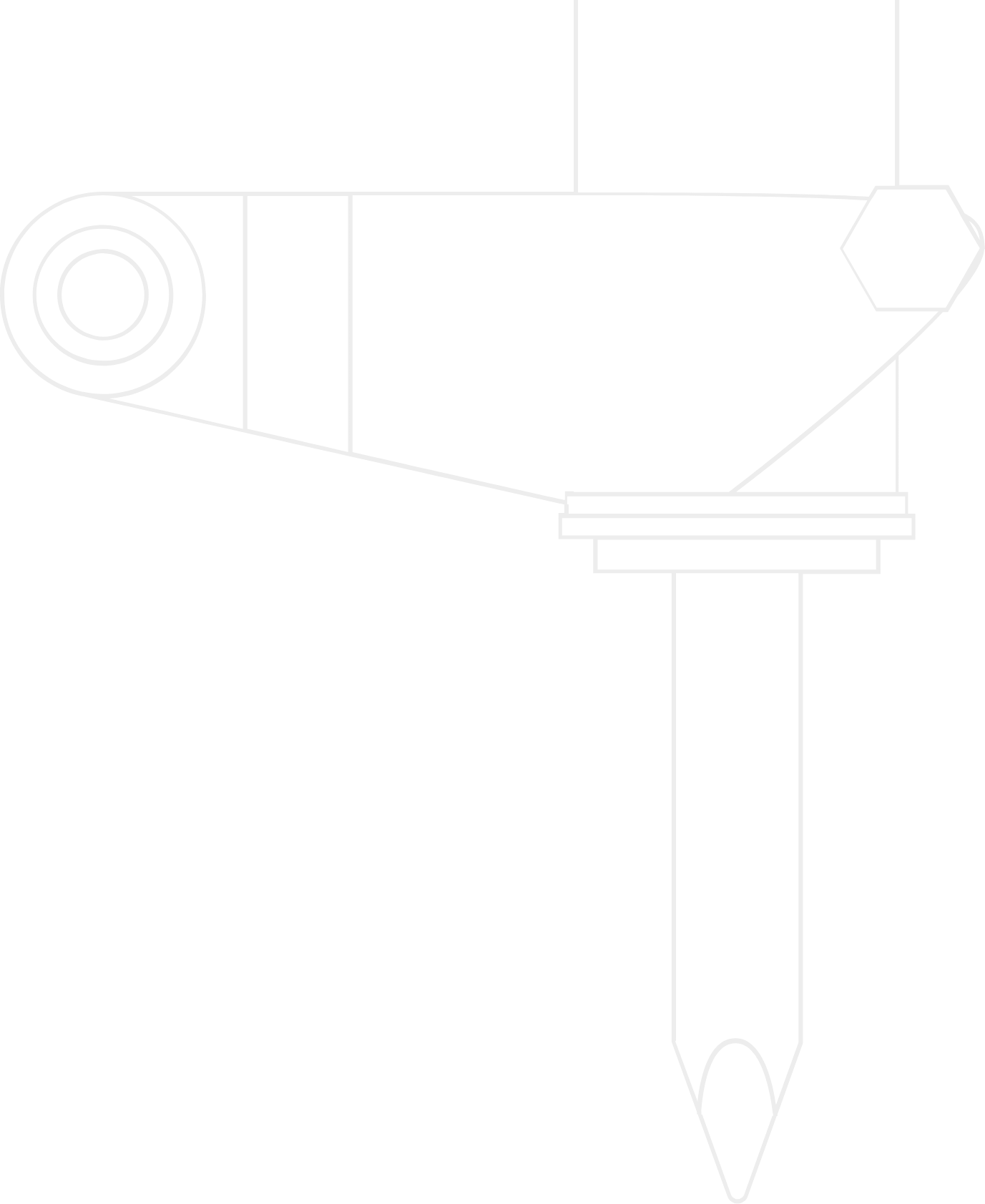 Line drawing of the terminator impact hammer